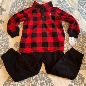 NWT Carter's two piece fleece outfit 3T